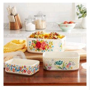 6-Piece Rectangle Ceramic bowl set new
